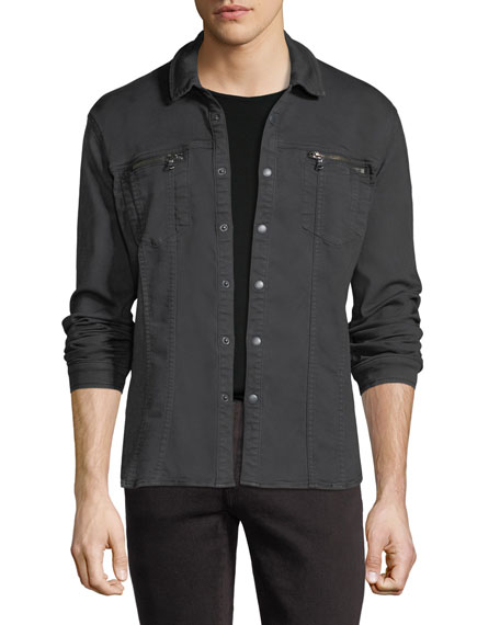 John Varvatos Star USA Denim Knit Shirt Jacket