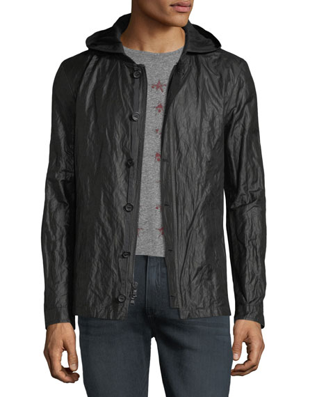 John Varvatos Star USA Tape-Button Short Parka Jacket