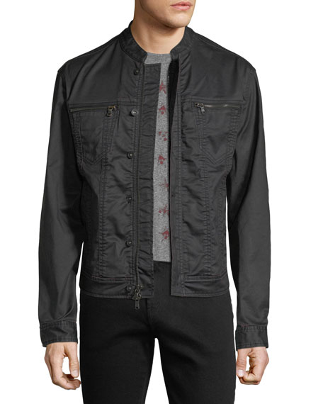 John Varvatos Star USA Denim-Style Zip-Front Jacket