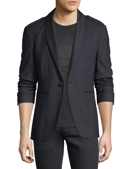 John Varvatos Star USA Satin Shawl-Collar Blazer