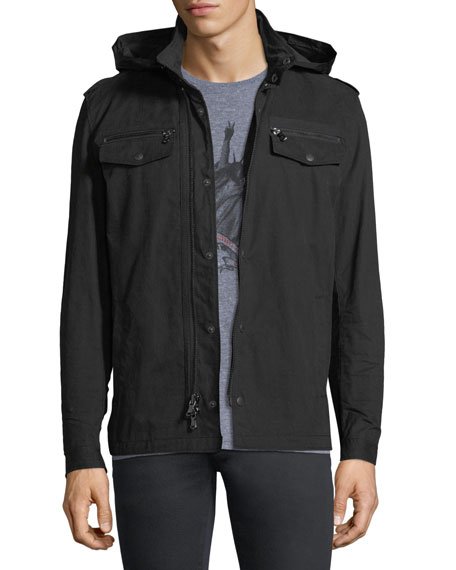 John Varvatos Star USA Double-Zip Hooded Shirt Jacket