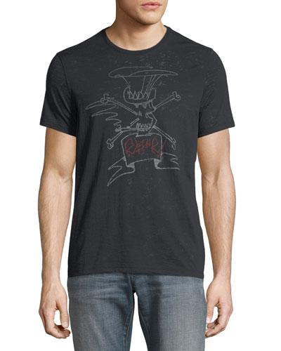 Slash Sketch-Graphic T-Shirt