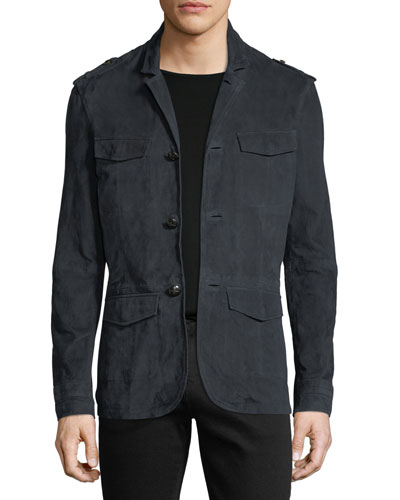 Suede Military Field Jacket