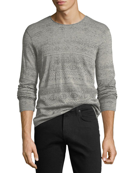 John Varvatos Star USA Graphic-Print Crewneck Sweater