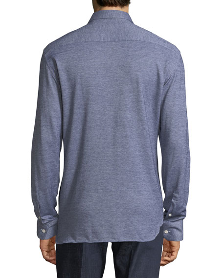 Heathered Piqué Sport Shirt