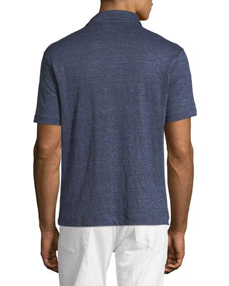 Short-Sleeve Linen Polo T-Shirt