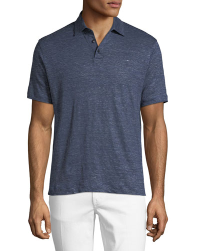 Short-Sleeve Linen Polo T-Shirt