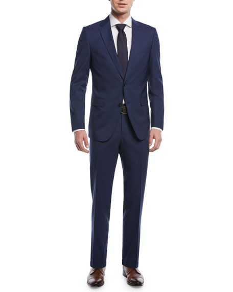 Mini Check Wool Two-Piece Suit