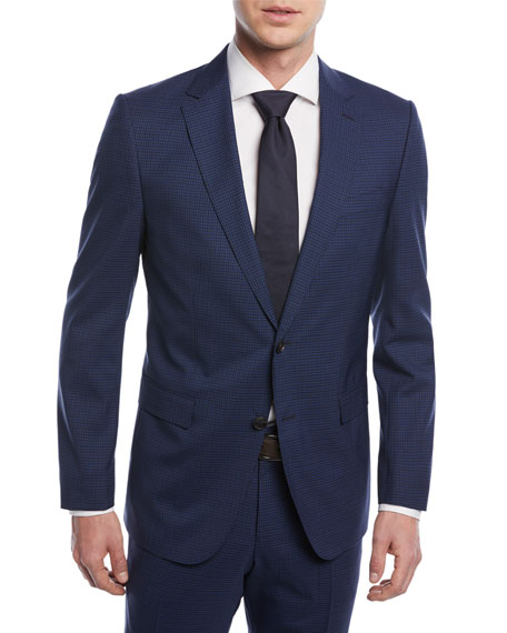 BOSS Mini Check Wool Two-Piece Suit
