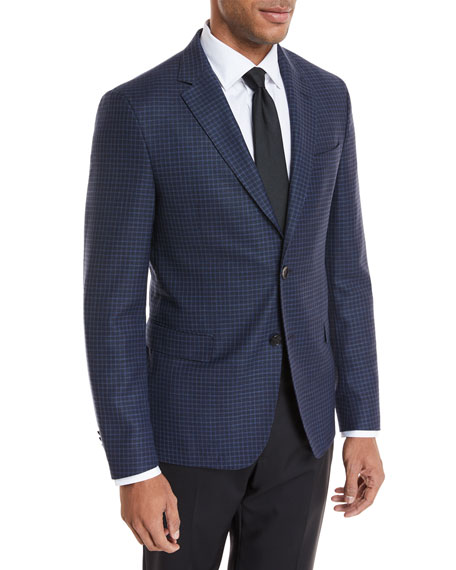 Small Windowpane Wool Jacket
