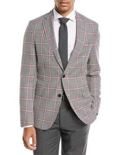 Windowpane Wool Sport Coat