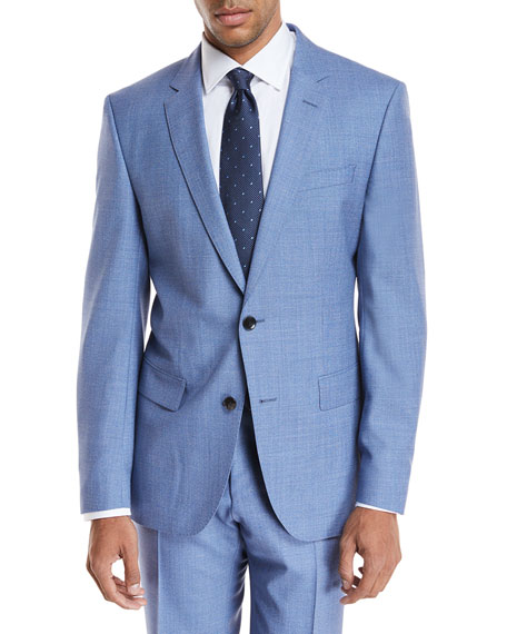 BOSS Melangé Wool Two-Piece Suit