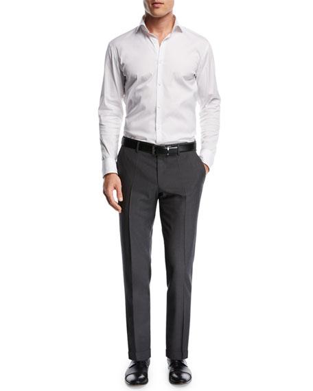 Genesis Wool Twill Flat-Front Pants