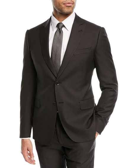 Emporio Armani Pindot Wool/Silk Two-Piece Suit