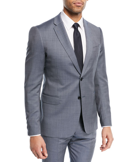 Emporio Armani Two-Piece Graph Check Wool Suit