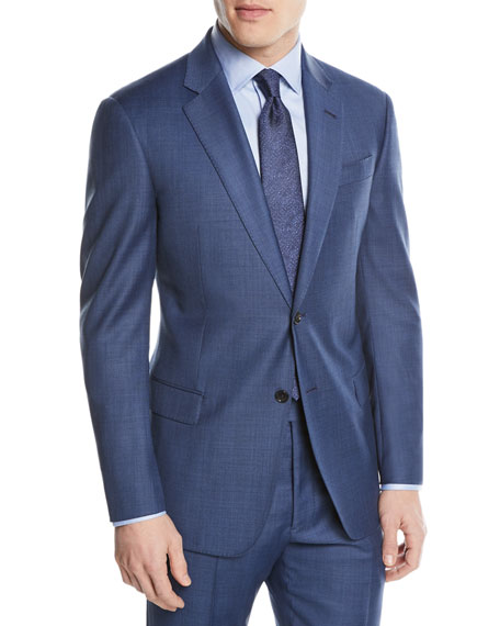 Two-Piece Wool Sharkskin Suit