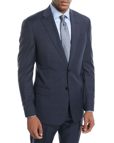 Plaid Two-Piece Wool Suit