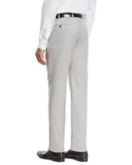 Flat-Front Wool Trousers