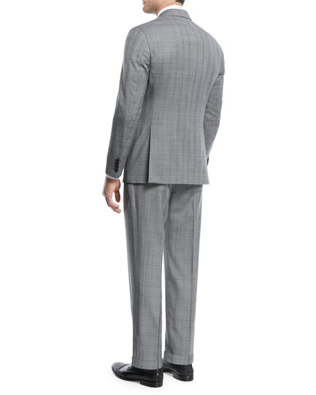 Broken Plaid Two-Piece Wool Suit
