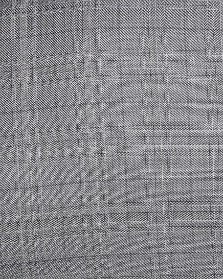 Broken Plaid Two-Piece Wool Suit