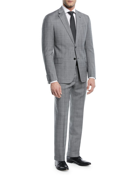 Emporio Armani Broken Plaid Two-Piece Wool Suit