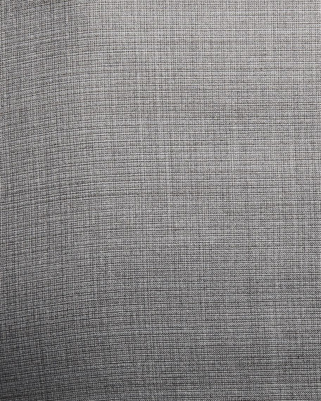 Woven Two-Piece Wool-Silk Suit, Light Gray