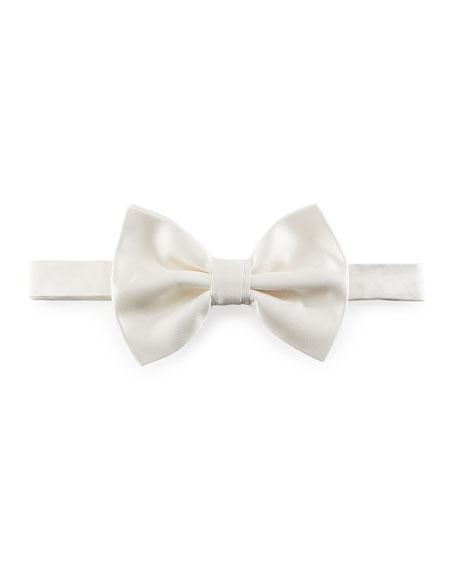 Emporio Armani Pre-Tied Silk Bow Tie, White