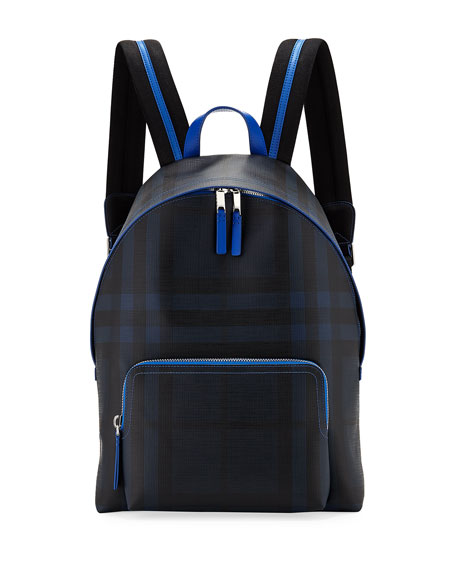 Abbeydale London Check Backpack, Navy