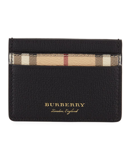Burberry Sandon Haymarket Check Card Case