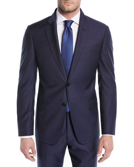 Emporio Armani Alternating Stripe Two-Piece Wool Suit