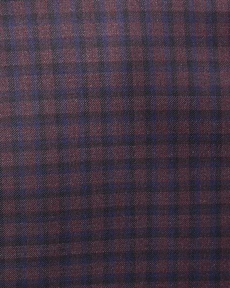Large District Check Wool Jacket