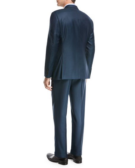 Birdseye Two-Piece Wool Suit