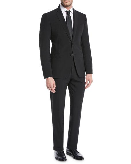 Solid Seersucker Wool Two-Piece Suit