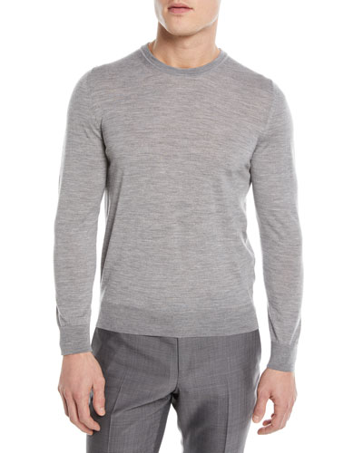 Crewneck Wool Pullover Sweater