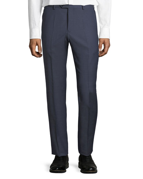 Emporio Armani Micro-Check Straight-Leg Trousers