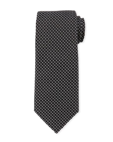 Box-Pattern Silk Tie