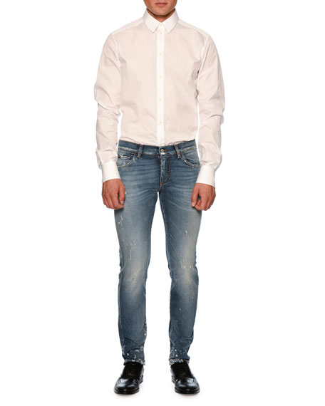 Dolce & Gabbana Distressed Slim-Fit Denim Jeans