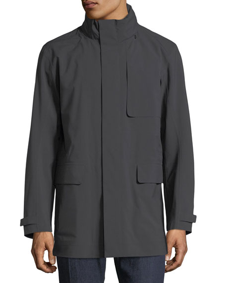 Anthracite Hooded Raincoat