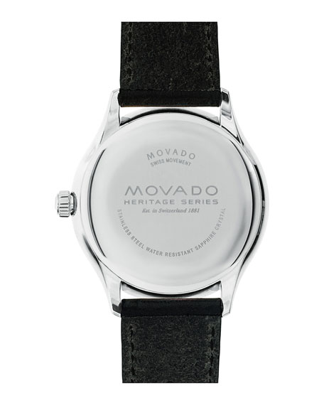 40mm Men's Heritage Calendoplan Watch, Black