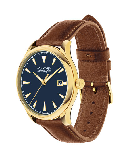 40mm Heritage Watch with Leather Strap