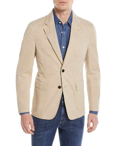 Khaki Two-Button Blazer