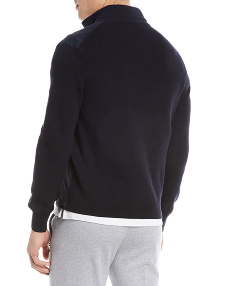 Hybrid Zip-Front Sweater