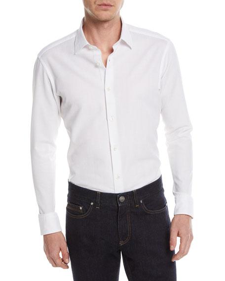 Solid Jacquard Sport Shirt