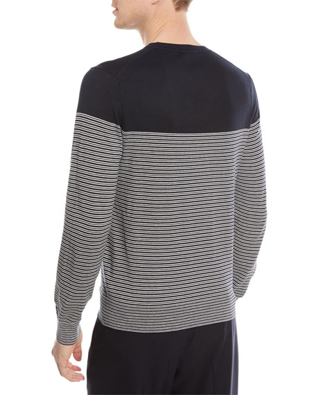 Striped Silk-Blend Sweater