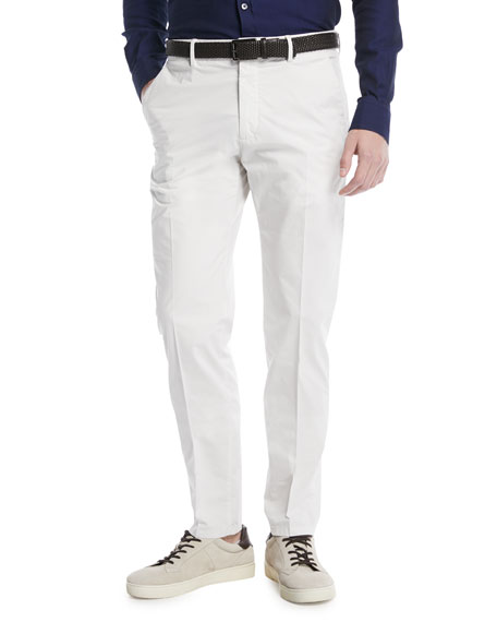 Z Zegna White Slim-Leg Chino Pants