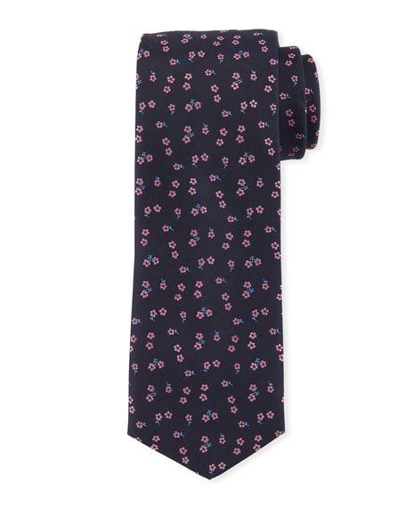 BOSS Floral-Pattern Silk Tie