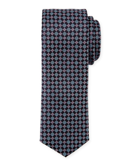 BOSS Neat Diamond Silk Tie