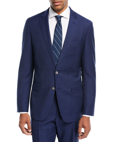 BOSS Helford Gander Broken Plaid Two-Piece Wool Suit,