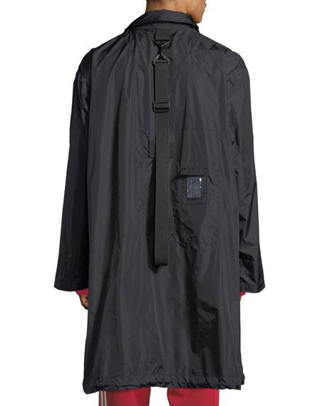 Packable Zip-Front Nylon Coat