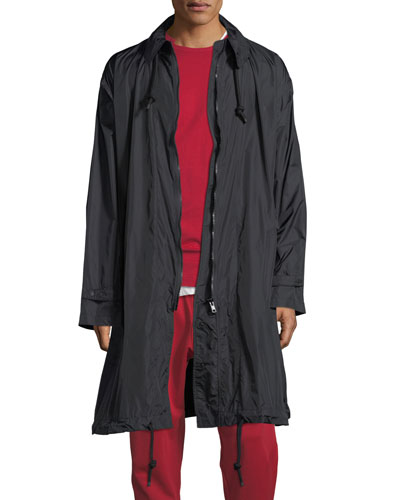 Packable Zip-Front Nylon Coat